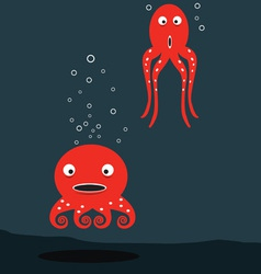 Red Octopus vector image