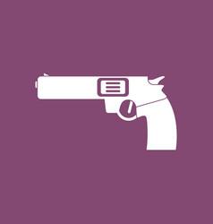 Icon military handgun revolver vector