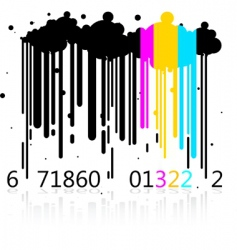 Dripping barcode vector