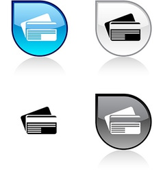 Card button vector
