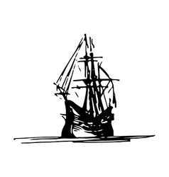 Vintage ship design vector