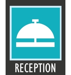 Simple icon call the receptionist at hotel vector