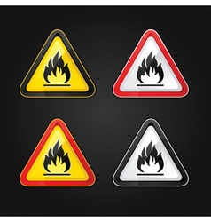 Flammable warning sign vector