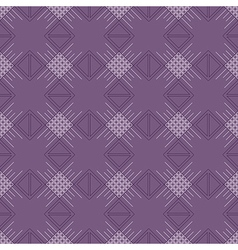 Violet pattern with rhombus and lines vector