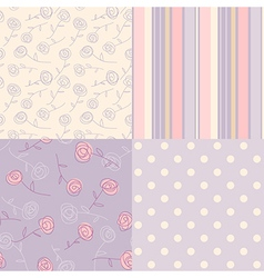 Patterns vintage lavender vector