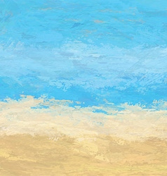 abstract painted beach landscape 1406 vector image vector image