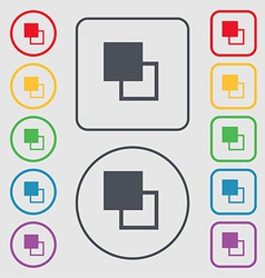 Active color toolbar icon sign symbol on the Round vector image vector image
