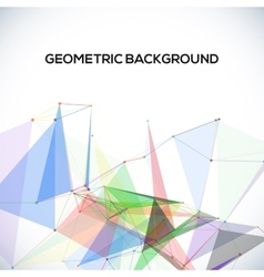 background with polygonal abstract shapes circles vector image