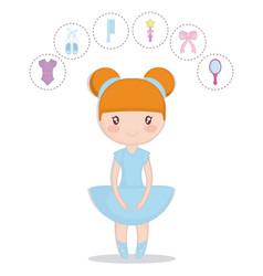 ballet ballerina design vector image vector image