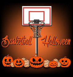 Basketball and halloween vector