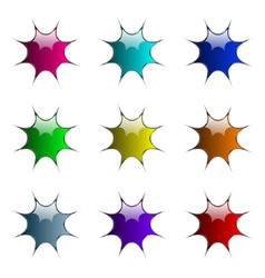 blots buttons vector image vector image