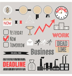 Business set frames infographic elements icons vector image