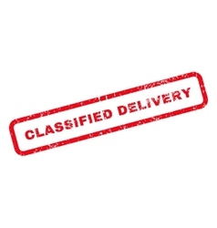 Classified delivery text rubber stamp vector