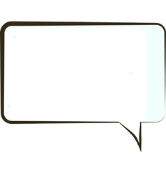 comic book speech bubble symbol vector image