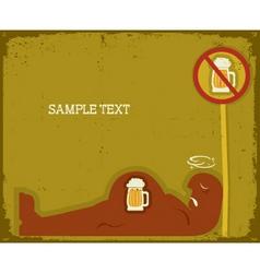 drunk man vector image vector image