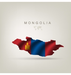Flag of mongolia as a country vector