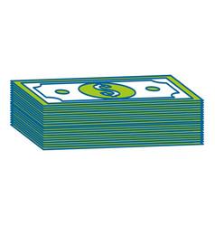 Green bill dollar money vector