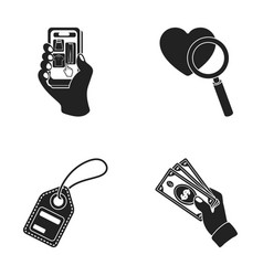 hand mobile phone online store and other vector image