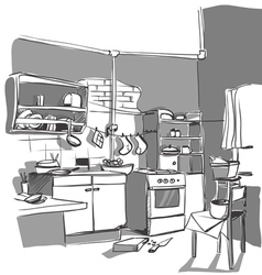 Kitchen sketch vector