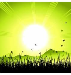 landscape sunrise vector image vector image