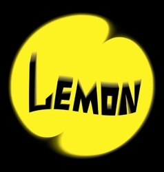 logo lemon black background vector image vector image