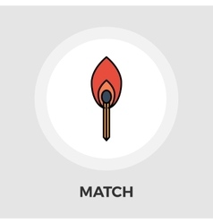 Match flat icon vector image
