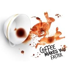 Poster wild coffee rabbit vector