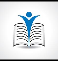Reading book icon stock vector