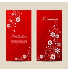 Set of vertical banners with flowers vector image vector image