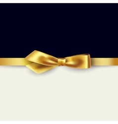 Shiny gold satin ribbon vector image vector image