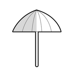 Striped parasol or umbrella icon image vector