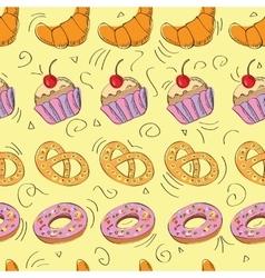 Tasty hand drawn seamless pattern vector image