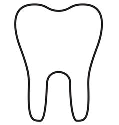 Teeth Icon Outline vector image vector image