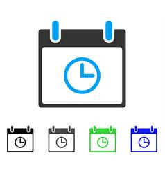 Time calendar day flat icon vector