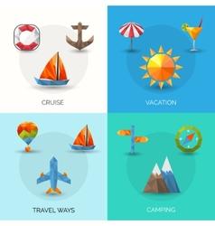 Travel polygonal set vector