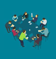 Table talks team business people meeting vector