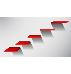 3d red stairs to success infographic element vector