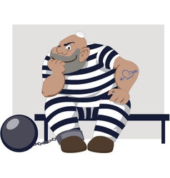 Cartoon prisoner vector