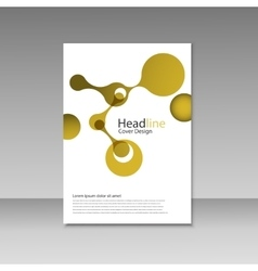Molecule design brochure template science vector