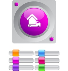 Camper color round button vector image
