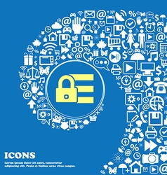 Lock login icon sign nice set of beautiful icons vector