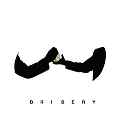 Bribery with hands black vector