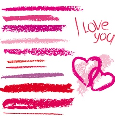 brush made by line lipstick vector image vector image