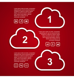 clouds infographic vector image vector image