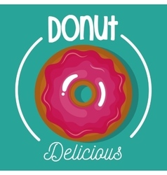 Icon donut glazed pink graphic vector
