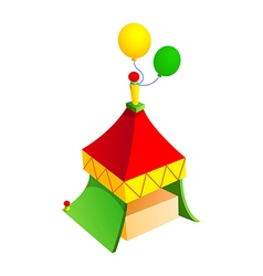 icon tent and balloon vector image vector image
