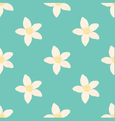 neroli flower seamless pattern oil plant vector image vector image