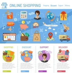 Online shopping infographics vector