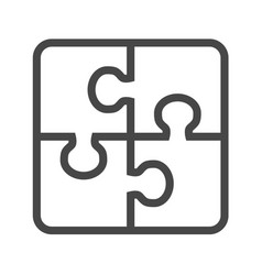 puzzle thin line icon vector image vector image