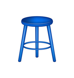 Retro stool in blue design vector